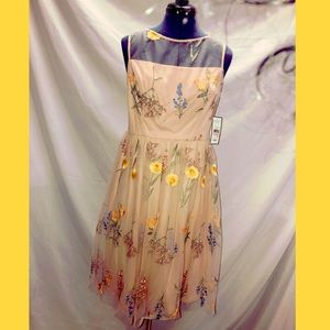 Jessica Howard Blush Flower Dress NWT Size 10P